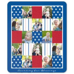 Thumbnail for 50x60 Sherpa Fleece Photo Blanket with Americana design 1