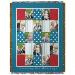 Thumbnail for 60x80 Photo Woven Throw with Americana design 1