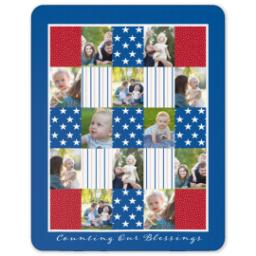 Thumbnail for 60x80 Sherpa Fleece Photo Blanket with Americana design 1