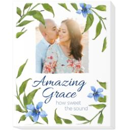 Thumbnail for 8x10 Photo Canvas with Amazing Grace design 1