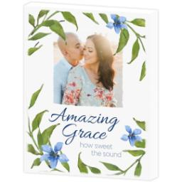 Thumbnail for 8x10 Photo Canvas with Amazing Grace design 3
