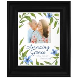 Thumbnail for 8x10 Photo Canvas With Traditional Frame with Amazing Grace design 1