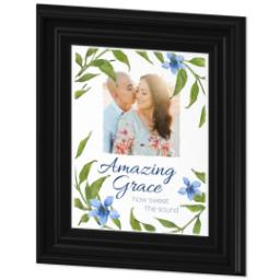 Thumbnail for 8x10 Photo Canvas With Traditional Frame with Amazing Grace design 2