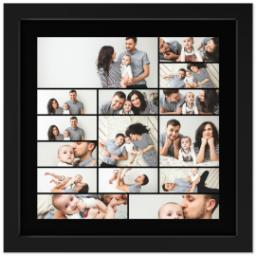 Thumbnail for 12x12 Collage Canvas With Contemporary Frame with Custom Color Collage design 1