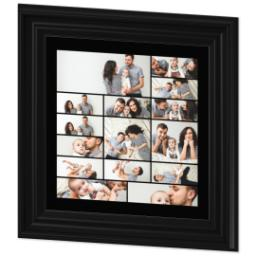 Thumbnail for 12x12 Collage Canvas With Traditional Frame with Custom Color Collage design 2