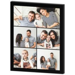 Thumbnail for 16x20 Collage Photo Canvas with Custom Color Collage design 3