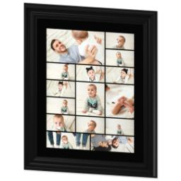 Thumbnail for 16x20 Collage Canvas With Traditional Frame with Custom Color Collage design 2