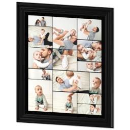 Thumbnail for 20x24 Collage Canvas With Traditional Frame with Custom Color Collage design 2