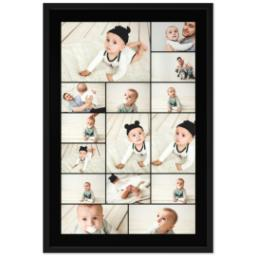Thumbnail for 24x36 Collage Canvas With Contemporary Frame with Custom Color Collage design 1