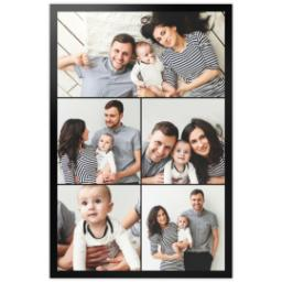 Thumbnail for 24x36 Collage Photo Canvas with Custom Color Collage design 2
