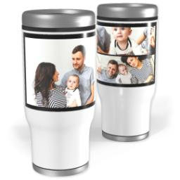 Thumbnail for Stainless Steel Collage Tumbler, 14oz with Custom Color Collage design 1