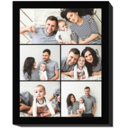 Thumbnail for 8x10 Collage Photo Canvas with Custom Color Collage design 1