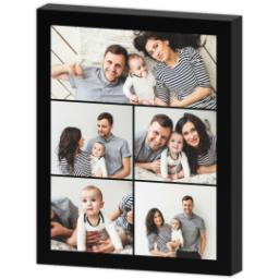 Thumbnail for 8x10 Collage Photo Canvas with Custom Color Collage design 3