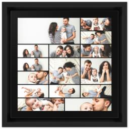 Thumbnail for 8x8 Collage Canvas With Floating Frame with Custom Color Collage design 1