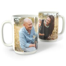 Thumbnail for White Photo Mug, 15oz with Full Photo design 1