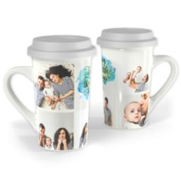 Thumbnail for Premium Grande Photo Mug with Lid, 16oz with Enjoy Little Things design 1