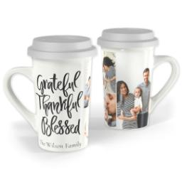 Thumbnail for Premium Grande Photo Mug with Lid, 16oz with Grateful Thankful Blessed design 1