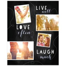 Thumbnail for Poster, 16x20, Glossy Poster Paper with Chalk Board Live Love Laugh design 1