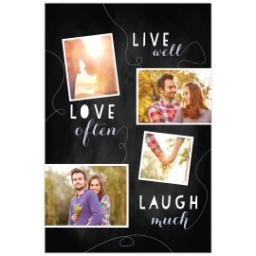 Thumbnail for Poster, 20x30, Matte Photo Paper with Chalk Board Live Love Laugh design 1