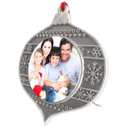 Thumbnail for Metal Teardrop Photo Ornament with Full Photo design 2