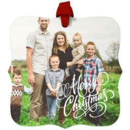 Thumbnail for Fancy Bracket Metal Ornament with Merry Christmas design 1