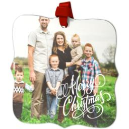 Thumbnail for Fancy Bracket Metal Ornament with Merry Christmas design 2
