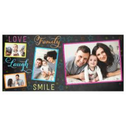 Thumbnail for Stainless Steel Photo Travel Mug, 14oz with Colorful Family Chalkboard design 2