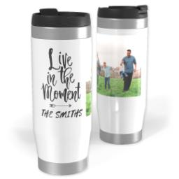 Thumbnail for Premium Tumbler Photo Travel Mug, 14oz with Live In The Moment design 1