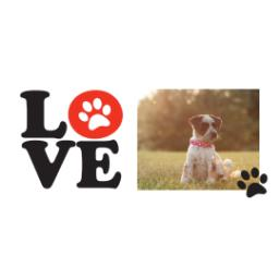 Thumbnail for Stainless Steel Photo Travel Mug, 14oz with Love Paws design 2