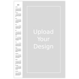 Thumbnail for Poster Calendar, 12x18, Glossy Poster Paper with 2021 Calendar Poster: Upload Your Design design 1