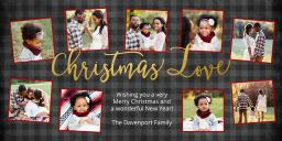Thumbnail for 4x8 Greeting Card, Matte, Blank Envelope with Christmas Love design 1