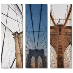 "Thumbnail for 3 Piece Multi-Piece Canvas (36""x 36"") with Grand Window Pane: Multi Photo design 1"