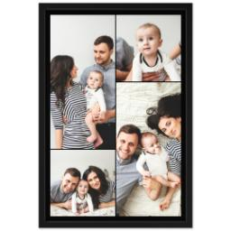 Thumbnail for 20x30 Collage Canvas With Contemporary Frame with Custom Color Collage design 1
