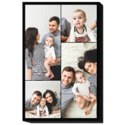 Thumbnail for 20x30 Collage Photo Canvas with Custom Color Collage design 1