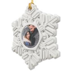 Thumbnail for Resin Snowflake Ornament with Full Photo design 2