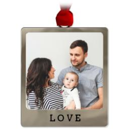 Thumbnail for Metal Frame Ornament - Love with Full Photo design 1