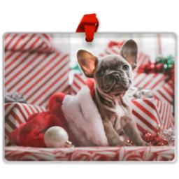Thumbnail for Rectangular Acrylic Ornament with Full Photo design 1