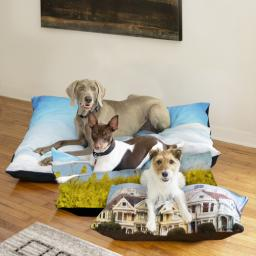 Thumbnail for Pet Bed Plush Fleece 50x40 with Full Photo design 3