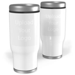 Thumbnail for Stainless Steel Collage Tumbler, 13oz with Upload Your Logo design 1