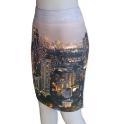Thumbnail for Photo Pencil Skirt - Suede (Women M) with Full Photo design 1