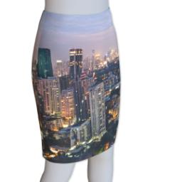 Thumbnail for Photo Pencil Skirt - Suede (Women M) with Full Photo design 2