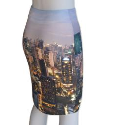 Thumbnail for Photo Pencil Skirt - Suede (Women M) with Full Photo design 3
