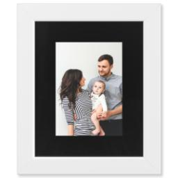 "Thumbnail for 5x7 Photo Matte Print with 8x10 1.25"" White Wood Frame with Full Photo design 1"