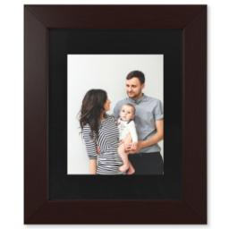 "Thumbnail for 8x10 Photo Matte Print with 11x14 1.5"" Brown Wood Frame with Full Photo design 1"