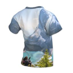 Thumbnail for Photo Short Sleeve T-Shirt (Women XS) with Full Photo design 3