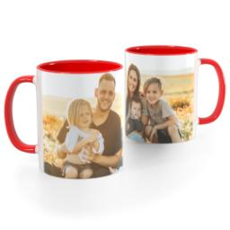 Thumbnail for Red Handle Photo Mug, 11oz with Full Photo design 1