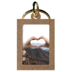 Thumbnail for Acrylic Photo Keychain - Vertical Rectangle, Gold Sparkle with Full Photo design 1