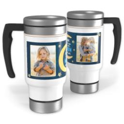 Thumbnail for Stainless Steel Photo Travel Mug, 14oz with Love You to the Moon design 1