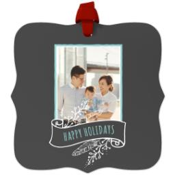 Thumbnail for Fancy Bracket Metal Ornament with Chalkboard Banner design 1