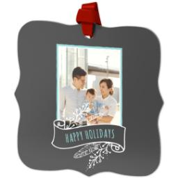 Thumbnail for Fancy Bracket Metal Ornament with Chalkboard Banner design 2